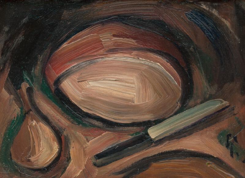 František Studený - Chlieb s cibuľou a nožík
