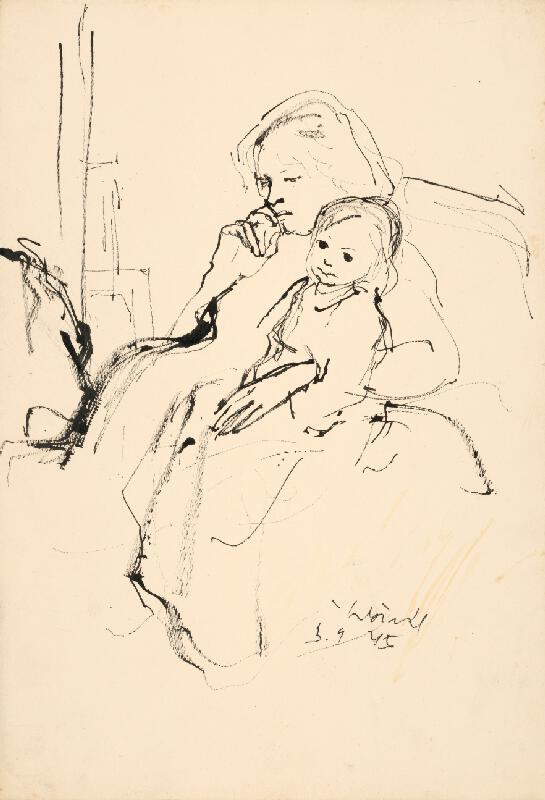 Vincent Hložník - Matka s diaťaťom