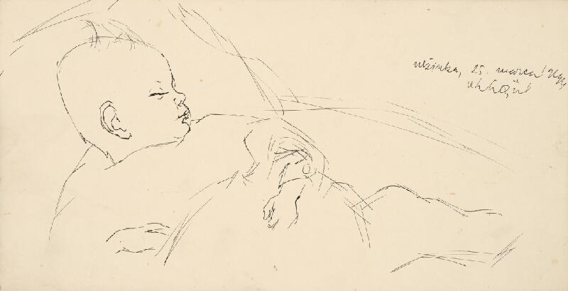 Vincent Hložník - Štúdia spiaceho dieťaťa