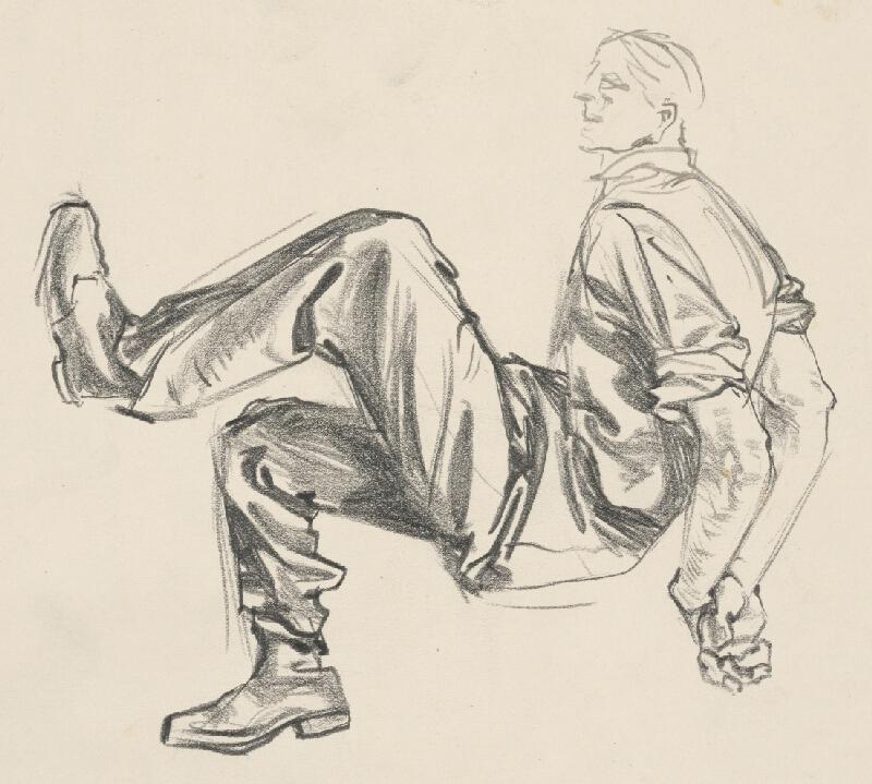 Vincent Hložník - Štúdia muža