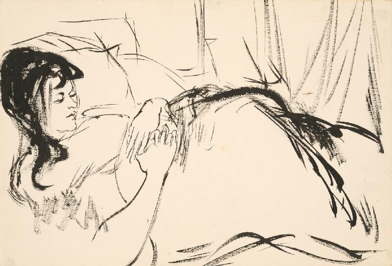 Vincent Hložník - Štúdia sediacej ženy