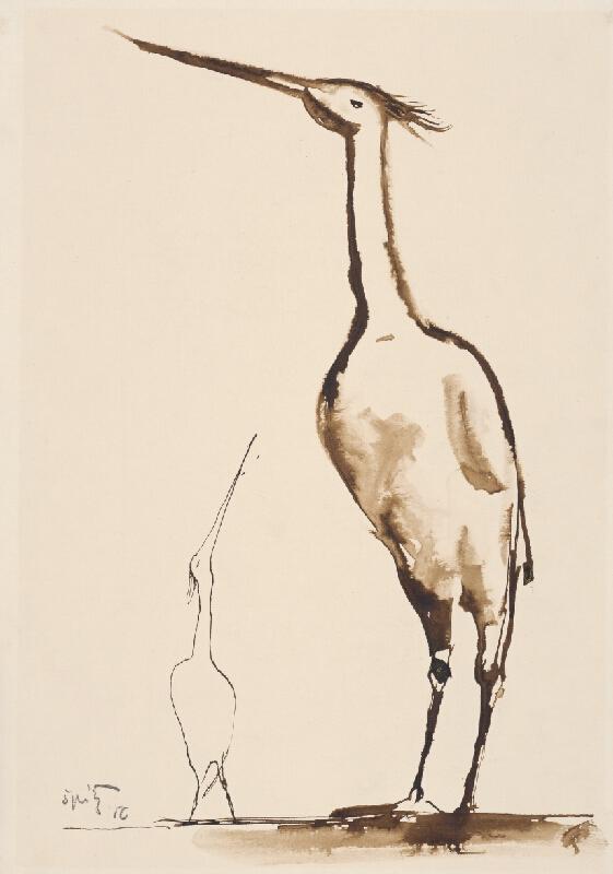 Ernest Špitz – Vodní vtáci, 1956, Stredoslovenská galéria