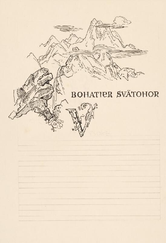 Jaroslav Vodrážka - Bohatier Svätohor L.