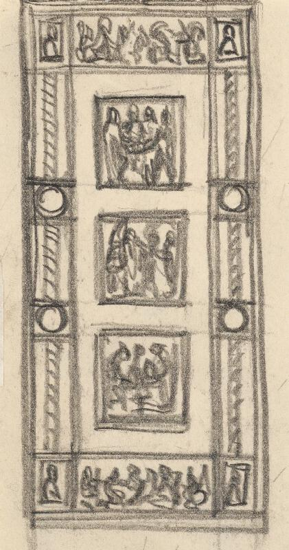 Rudolf Pribiš - Štúdia k dverám na Slavíne I.