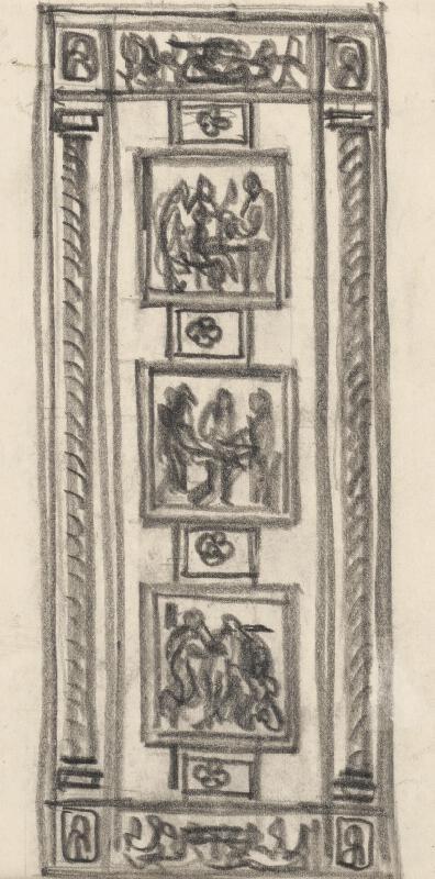 Rudolf Pribiš - Štúdia k dverám na Slavíne III.