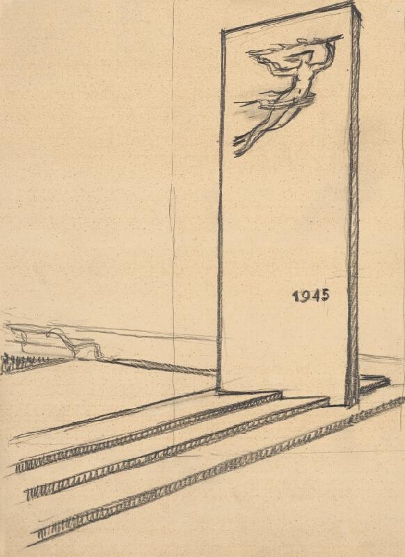 Rudolf Pribiš - Náčrt k Pomníku oslobodenia v Dolnom Kubíne
