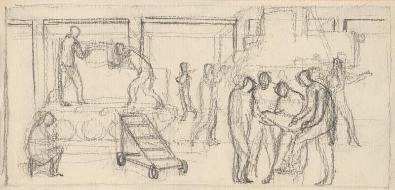Rudolf Pribiš - Náčrt k reliéfnej výzdobe Leninovho múzea