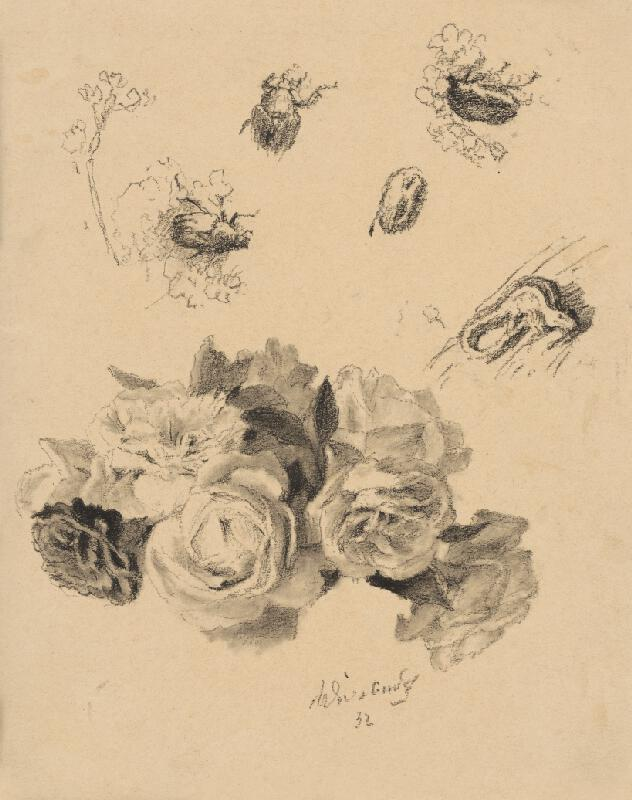 Max Švabinský – Ruže a zlatohlávky, 1932, Stredoslovenská galéria