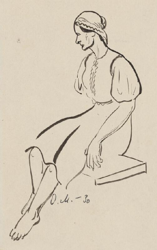 Dezider Milly - Sediaca žena