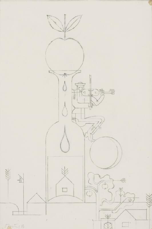 Oto Opršal - Kresba k obrazu Jeseň 1980