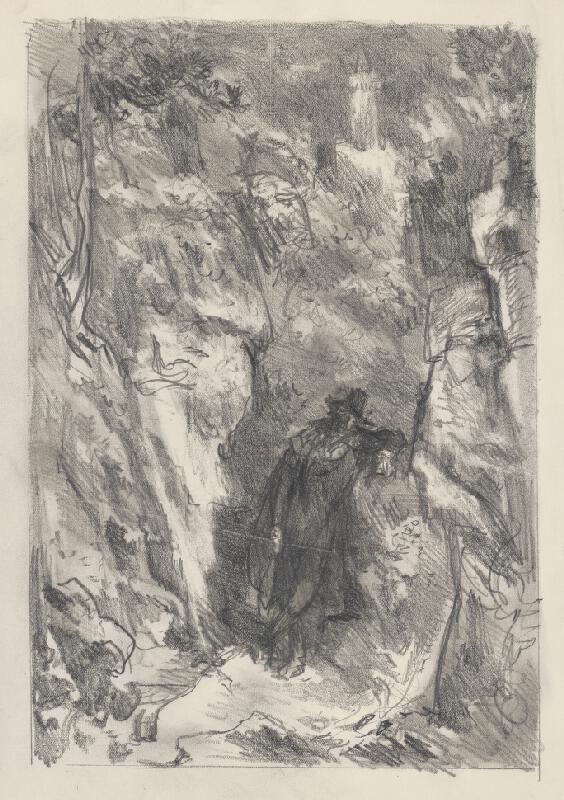 Jaroslav Vodrážka - Náčrt k litografii K.H.Máchu