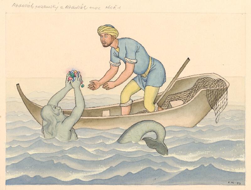 Emil Makovický - Rozprávka o Abdalláhovi pozemskom a Abdalláhovi morskom II