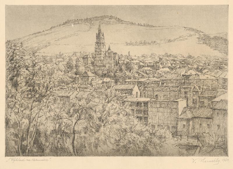 Viktor Hermély - Výhľad na Kremnicu