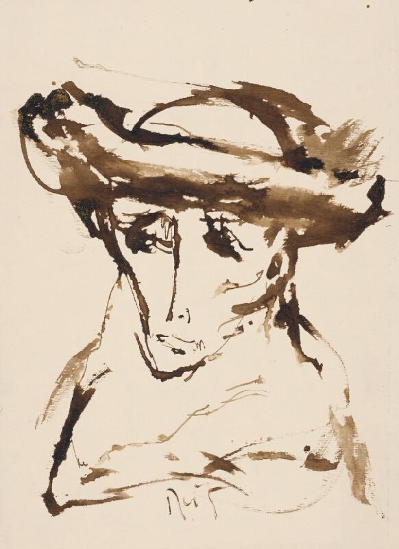 Ernest Špitz - Kresba hlavy I.