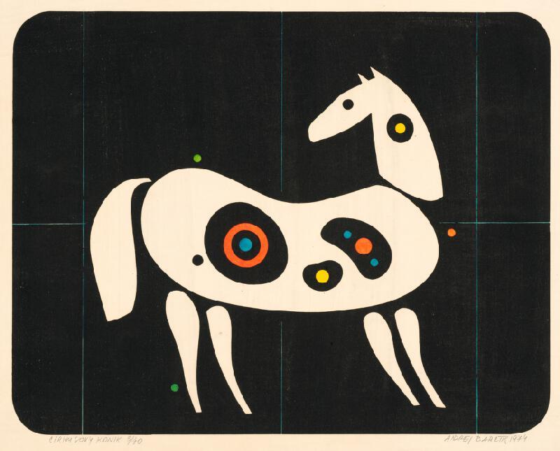 Andrej Barčík – Cirkusový koník, 1974, Stredoslovenská galéria