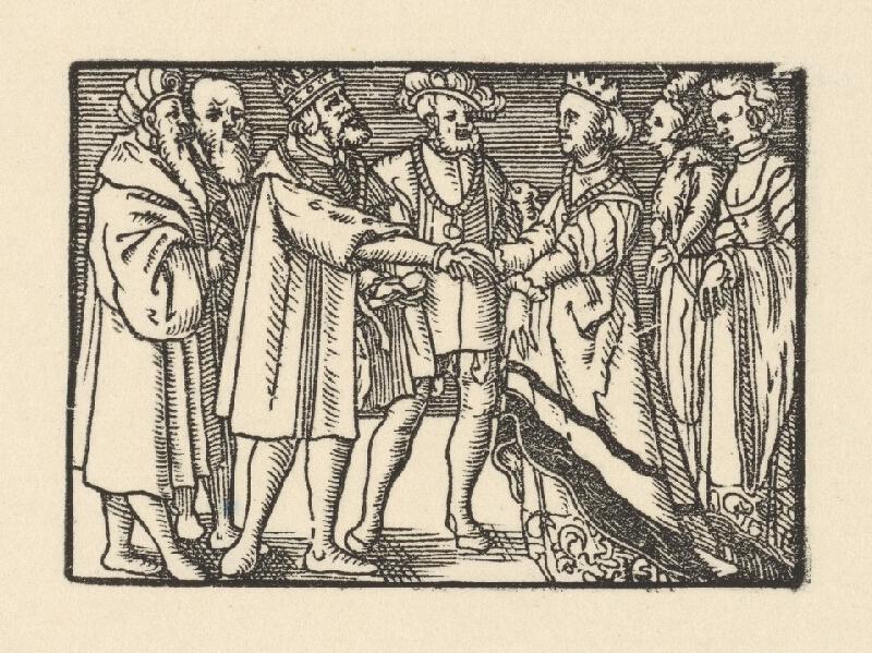 Nemecký grafik z 2. polovice 16. storočia - Knieža predstavuje Grizeldu