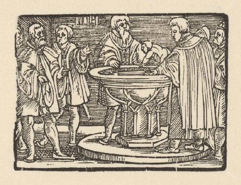 Nemecký grafik z 1. polovice 16. storočia - Krst