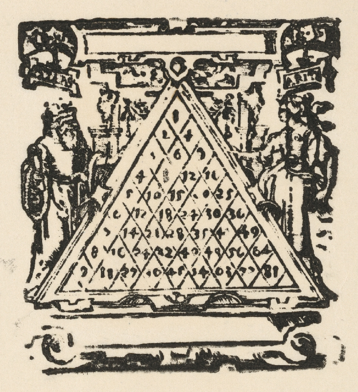 Nemecký grafik z polovice 16. storočia - Násobilka