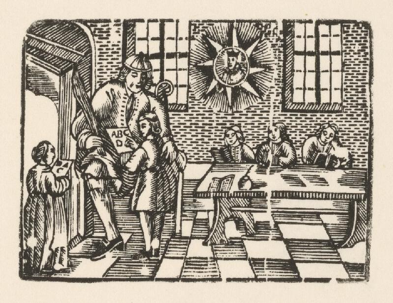 Moravský grafik zo začiatku 18. storočia - Gramatika s portrétom Jána Nepomuckého