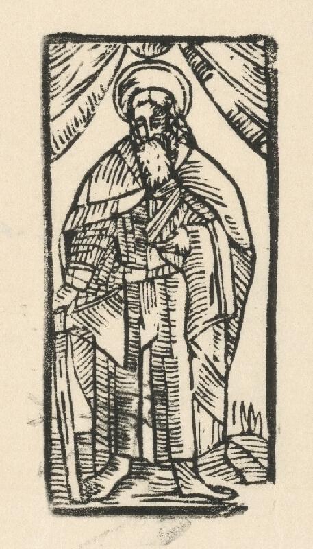 Moravský grafik zo začiatku 17. storočia - Apoštol Júda Tadeáš