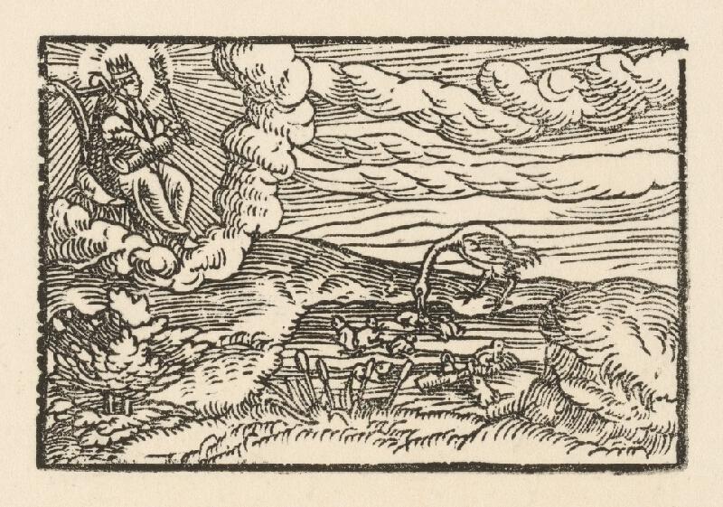 Nemecký grafik z 2. polovice 16. storočia - Prvá báseň o žabách