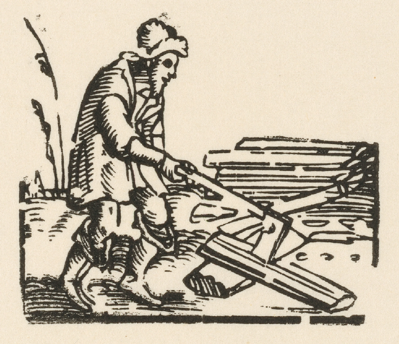 Nemecký grafik z 1. polovice 16. storočia - Muž otesávajúci kmeň