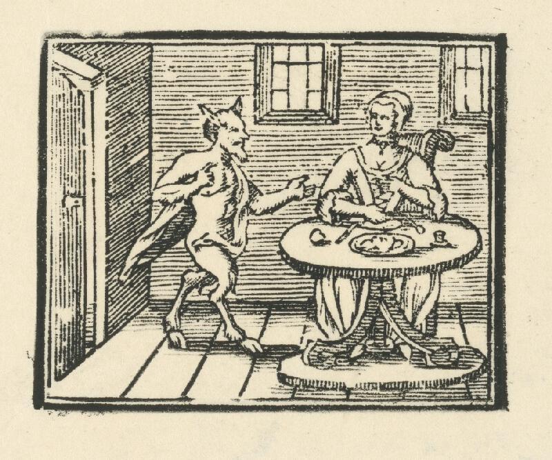Moravský grafik z konca 18. storočia - Diabol a žena