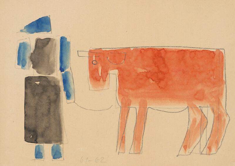 Vladimír Kompánek - Žena s kravou