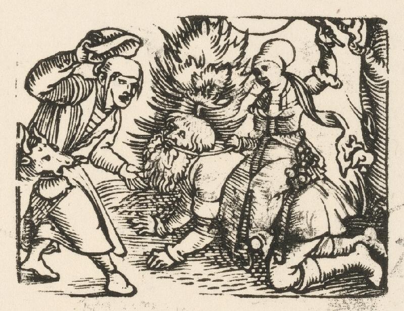 Nemecký grafik z 1. polovice 16. storočia - Aristoteles a Phylis