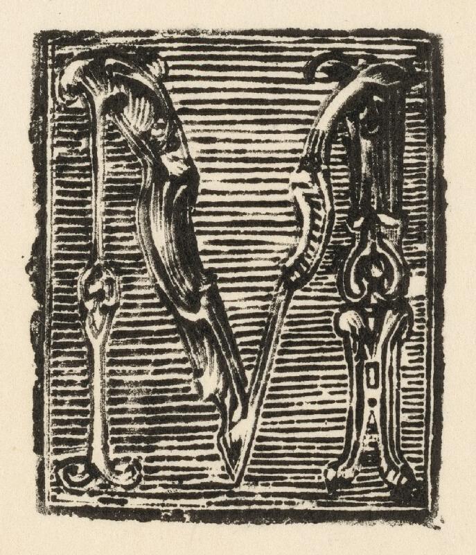 Slovenský grafik z prelomu 17. - 18. storočia - Iniciála M