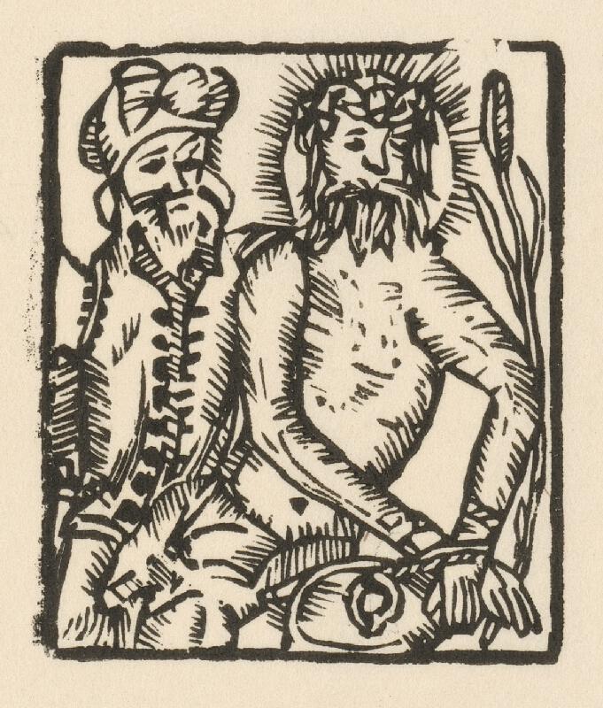 Moravský grafik z prelomu 16. - 17. storočia - Ecce Homo