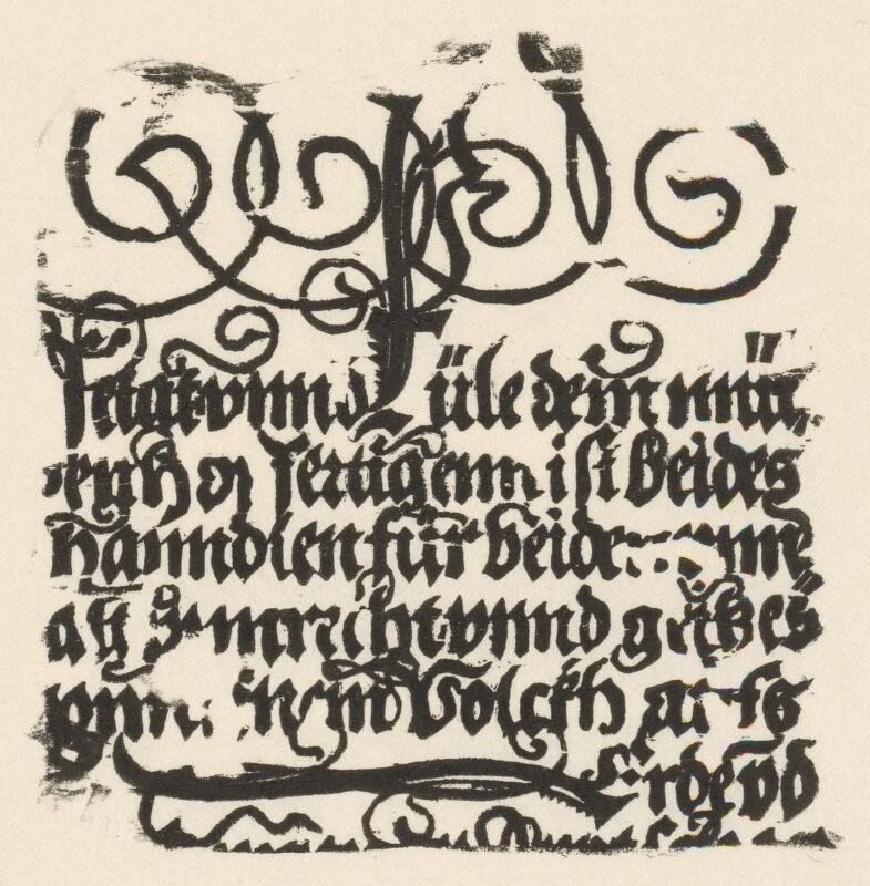Nemecký grafik z 1. polovice 16. storočia - Torzo jednolistu