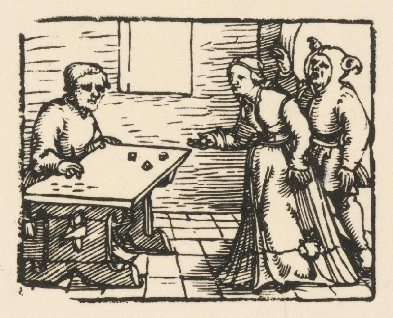 Nemecký grafik z 1. polovice 16. storočia - Hra v kocky