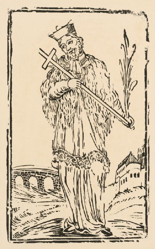 Slovenský grafik z konca 18. storočia - Svätý Ján Nepomucký