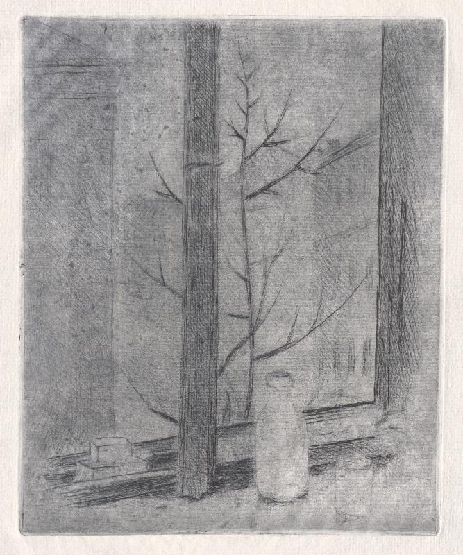 Mikuláš Galanda - Zátišie v okne