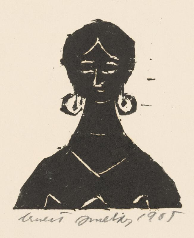 Ernest Zmeták - Žena s náušnicami