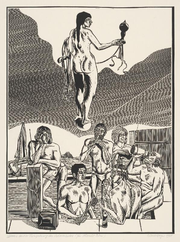 Roland Berger - Nemesis pri prechode mužskými kúpeľmi-podľa A. Dürera
