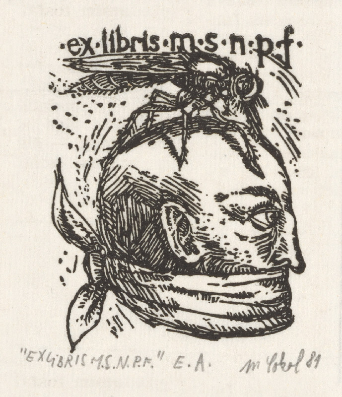 Milan Sokol - Ex libris M.S.N.P.F.