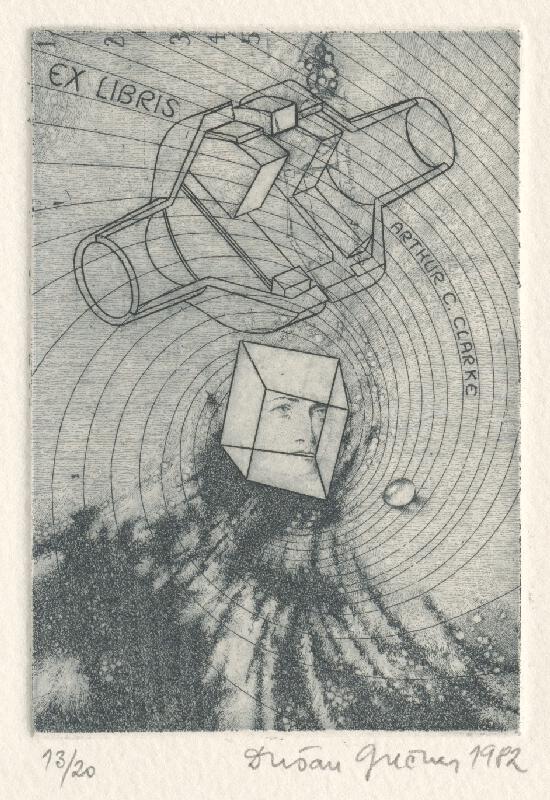 Dušan Grečner - Ex libris A.C.Clarke