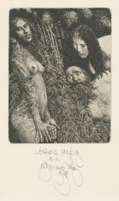 Albín Brunovský - Ex libris J.Bílek