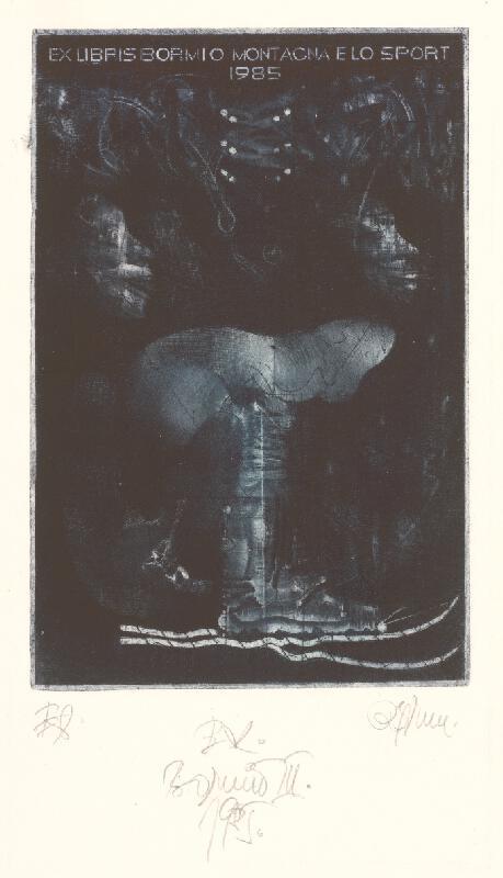 Róbert Brun - Ex libris Bormio III.