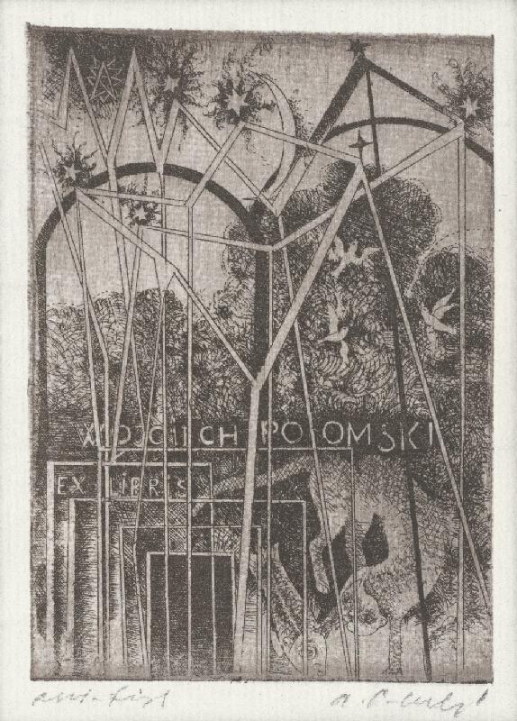 Alžbeta Štefunková-Szabová - Ex libris Wojciech Polomski