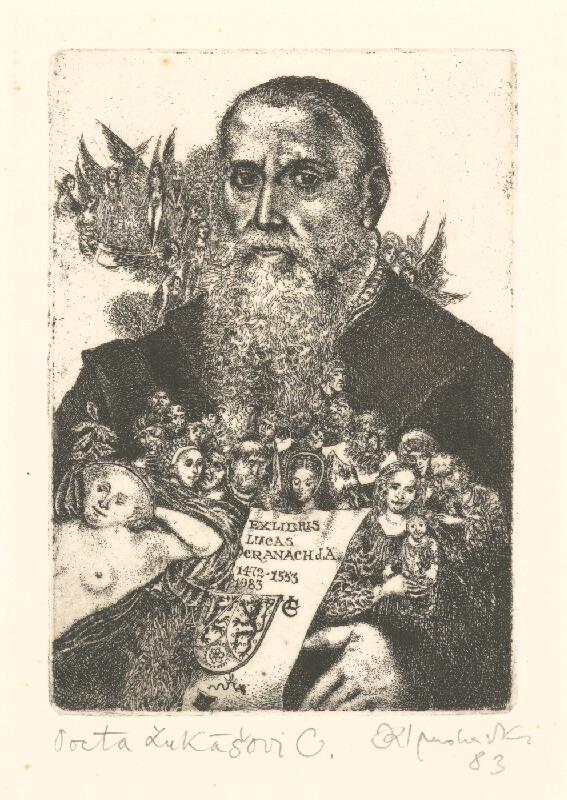 Karol Ondreička - Ex libris Lucas Cranach
