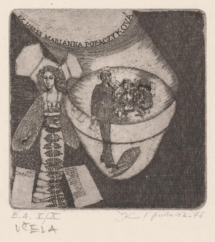 Karol Ondreička - Ex libris Marianna Polaczyková