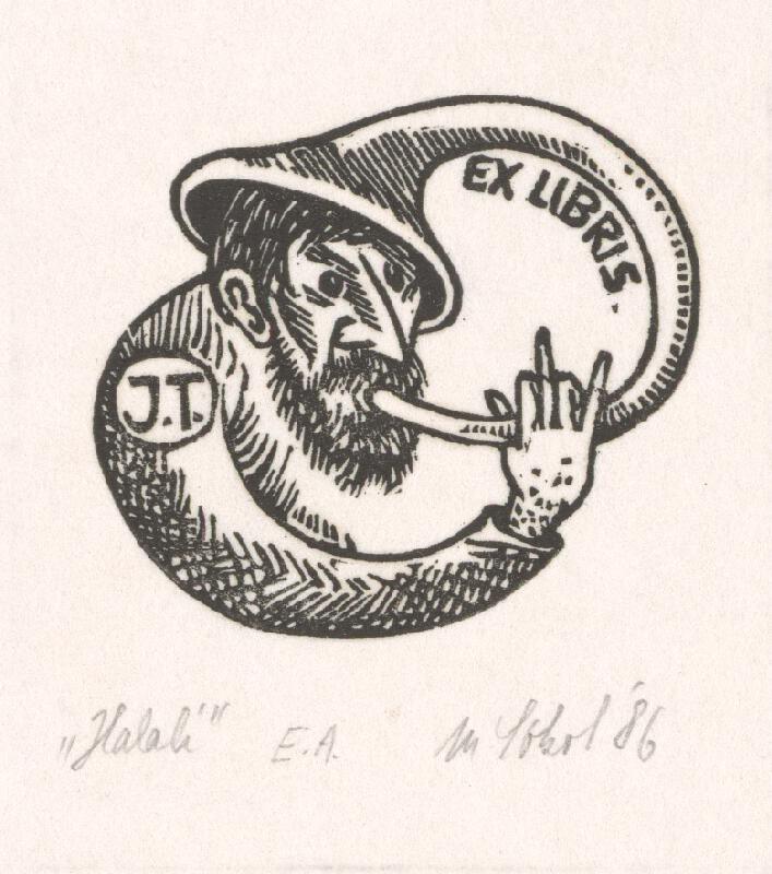 Milan Sokol - Ex libris J.T. Halali