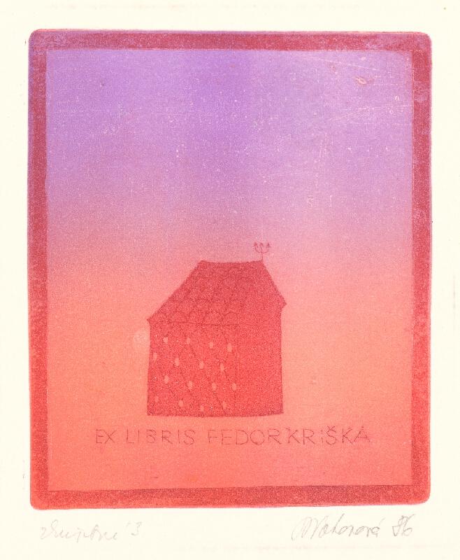 Blanka Votavová - Ex libris Fedor Kriška