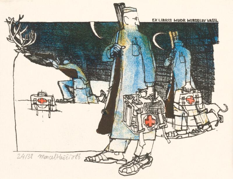 Marcel Haščič - Ex libris Miroslav Vasil
