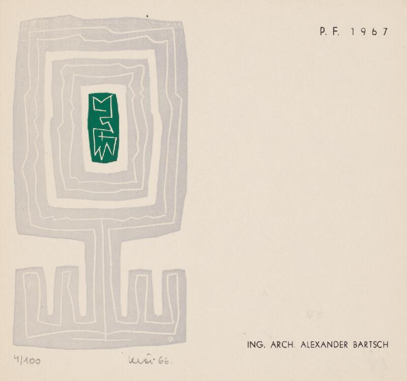 Fero Kráľ - PF A. Bartsch 1967