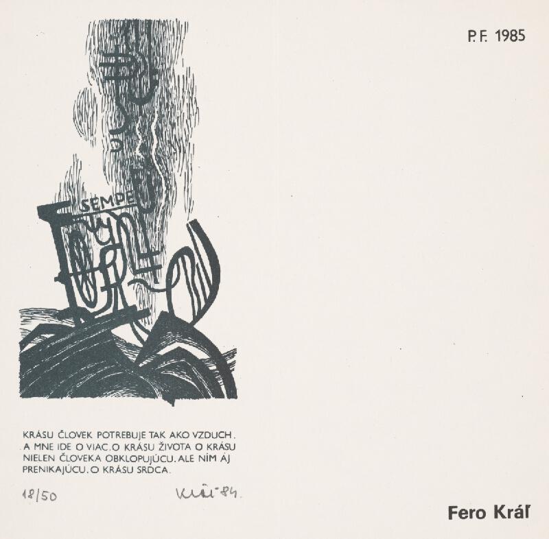 Fero Kráľ - PF 1985 II.