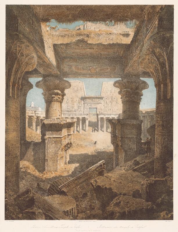 Karol Ľudovít Libay - Interiér chrámu v Edfu